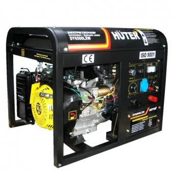 Генератор бензиновый Huter DY6500LXW с функцией сварки и колесами в Екатеринбурге