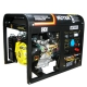 Генератор бензиновый Huter DY6500LXW с функцией сварки и колесами
