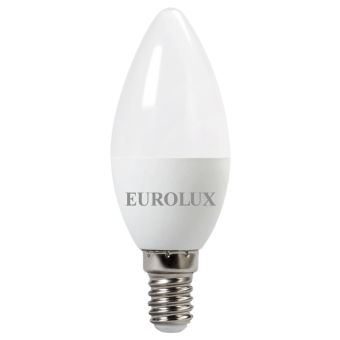 Лампа светодиодная EUROLUX LL-E-C37-5W-230-2,7K-E14 в Екатеринбурге
