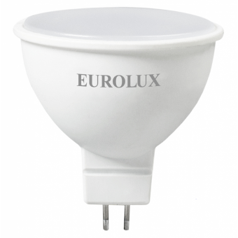 Лампа светодиодная EUROLUX LL-E-MR16-7W-230-4K-GU5.3 в Екатеринбурге
