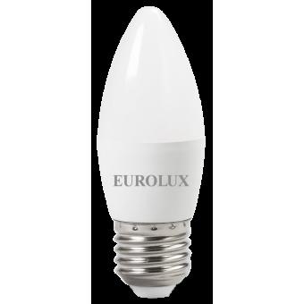 Лампа светодиодная EUROLUX LL-E-C37-6W-230-2,7K-E27 в Екатеринбурге