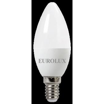Лампа светодиодная EUROLUX LL-E-C37-6W-230-2,7K-E14 в Екатеринбурге