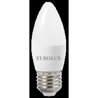 Лампа светодиодная EUROLUX LL-E-C37-6W-230-4K-E27
