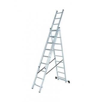Лестница Алюминиевая трёхсекционная ЛА 3х8